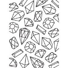 Darice Embossing Folder- Gems