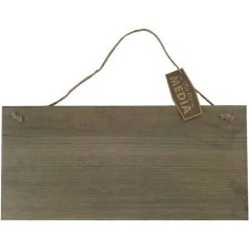 "Mix the Media Rustic Hanging Sign, 15""x7"""