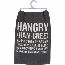 LOL Dish Towel- Hangry