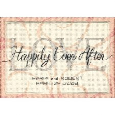 Dimensions Cross Stitch Kit- Wedding Record, Happily Ever After