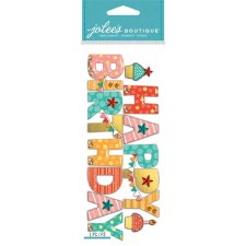Jolee's Birthday Dimensional Title Stickers- Happy Birthday