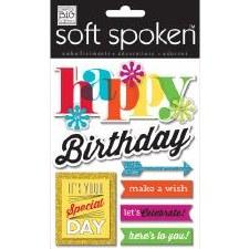 MAMBI Soft Spoken Stickers- Birthday- Happy Birthday Bright