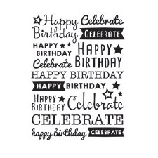 Darice Embossing Folder- Celebrations- Happy Birthday Celebration