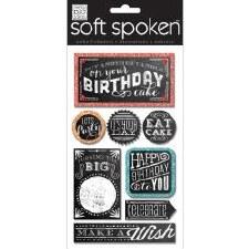 MAMBI Soft Spoken Stickers- Birthday- Happy Birthday Chalk