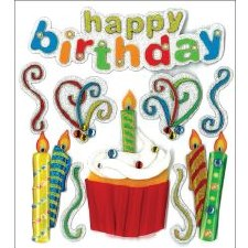 Jolee's Birthday Dimensional Stickers- Happy Birthday