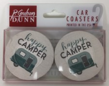 Car Coasters, 2pk- Happy Camper
