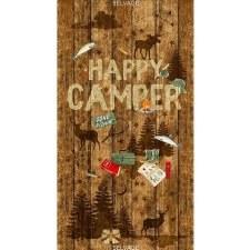 Fabric Panel- Happy Camper