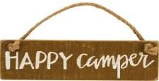 Hanging Wood Sign- Happy Camper