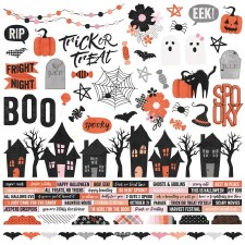 Happy Haunting Combo Stickers