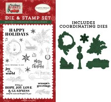 Christmas Market Designer Stamp & Die Set- Happy Holidays