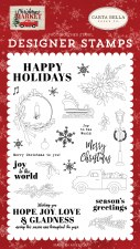 Christmas Market Designer Stamp Set- Happy Holidays