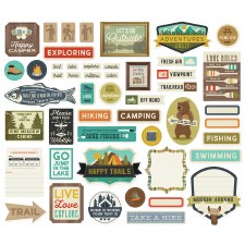 Happy Trails Die Cuts- Journal Bits