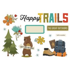 Simple Pages: Page Pieces Die Cuts- Happy Trails