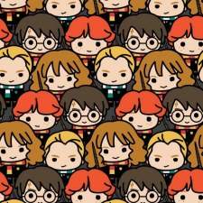 Harry Potter Bolted Fabric- Character Faces