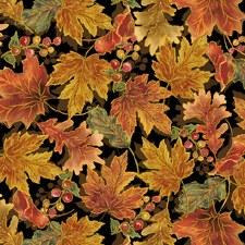 Harvest Elegance Bolted Fabric- Leaf