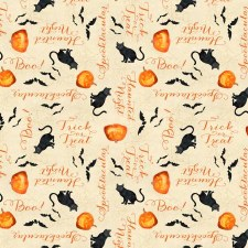 Haunted Night Bolted Fabric- Cats