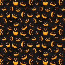 Haunted Night Bolted Fabric- Pumpkins