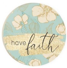 Car Coaster- Have Faith Floral