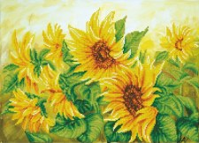 Diamond Facet Art Kit- Hazy Daze Sunflowers
