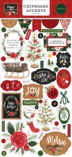 Happy Christmas Chipboard Accents