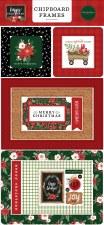 Happy Christmas Chipboard Frames