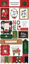 Happy Christmas Chipboard Phrases