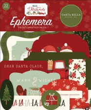 Hello Christmas Die Cuts- Ephemera