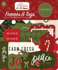 Hello Christmas Die Cuts- Frames & Tags
