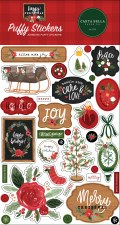 Hello Christmas Stickers- Puffy