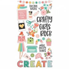 Hey Crafty Girl Bits & Pieces Chipboard