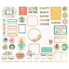 Hey Crafty Girl Bits & Pieces Die Cuts- Journaling
