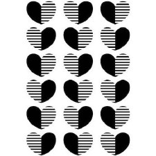 Darice Embossing Folder- Heart Lines