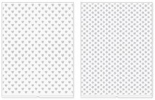 We R Memory Keepers Revolution Embossing Folders, 2pk- Hearts & Stars