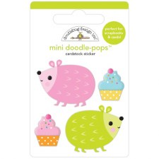 Hey Cupcake Doodle-Pops Stickers- Hedge Hugs