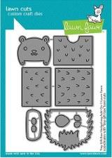 Lawn Fawn 3D Craft Dies- Tiny Gift Box Add-On, Hedgehog