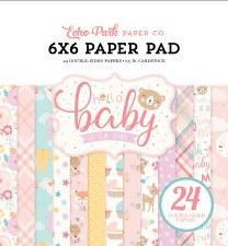 Hello Baby Girl 6x6 Paper Pad