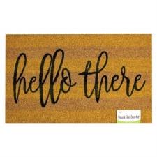 Natrual Fiber Door Mat- Hello There Stripe