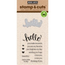 Hero Arts Stamp & Cut Set- Hello