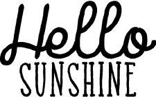 """""""Hello Sunshine"""" Vinyl"""