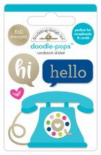 Hello Doodle-Pops Stickers- Hello There