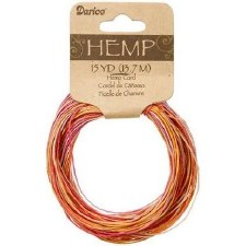 Variegated Hemp Cord, 15yds- Juicy Fruit
