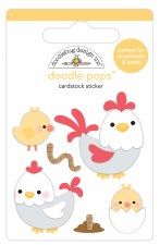 Down On The Farm Doodle-Pops Stickers- Hen & Chicks