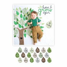 Baby's 1st Year Blanket & Card Set- Here I Grow