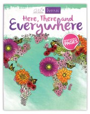 Art Unplugged Adult Coloring Book- Here, There & Everywhere