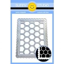 Sunny Studio Frilly Frames Craft Die- Hexagons
