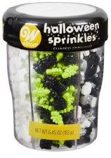 Halloween Sprinkles- 6 Cell Shapes Variety