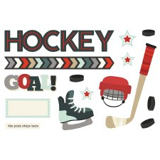 Simple Pages: Page Pieces Die Cuts- Hockey