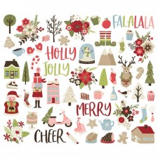 Holly Jolly Bits & Pieces Die Cuts