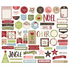 Holly Jolly Bits & Pieces Die Cuts- Journaling
