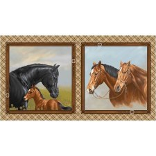 Animals Fabric Panel- Hold Your Horses
